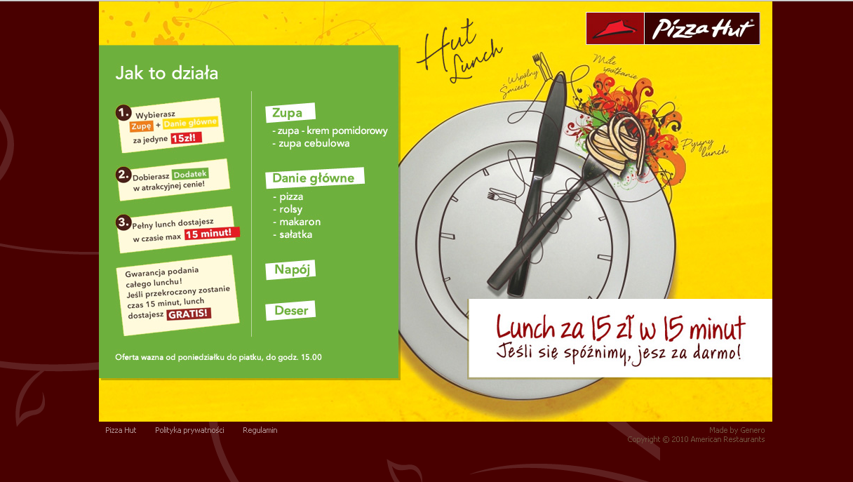 Pizza Hut Landing Page